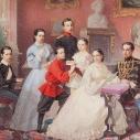 Портрет детей великой княгини Марии Николаевны - кудожника  В. И. Гау