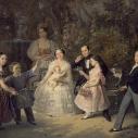 Художник К.С.Зарянко. Портрет семьи Лесниковых. 1852 г.