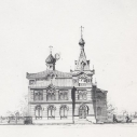 Проект храма. Западный фасад.